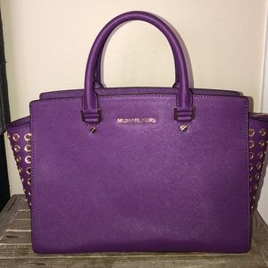Purple & Gold Michael KORS bag